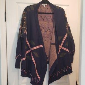 Roommates geometric pattern cardigan 3X